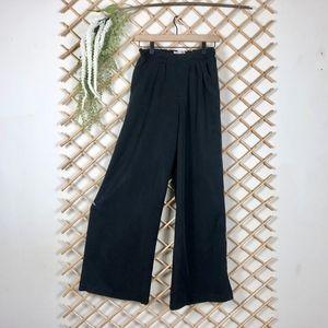Philosophy Black Lightweight Wide Leg Pants